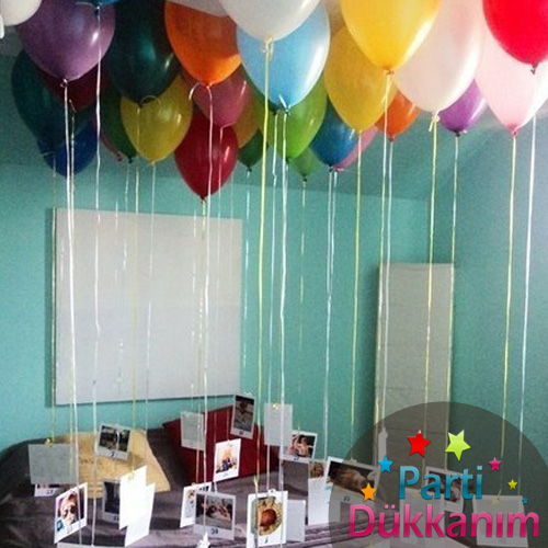 Karışık Renkli Uçan Balon Sürprizi MAĞAZADAN 25 Adet