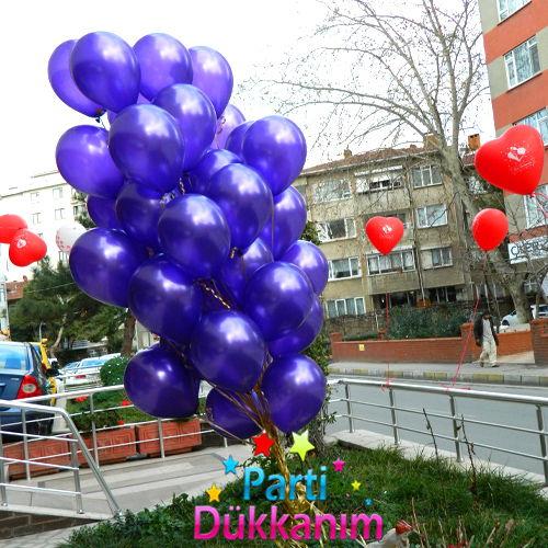 Uçan Balon Mor MAĞAZADAN 35 Adet