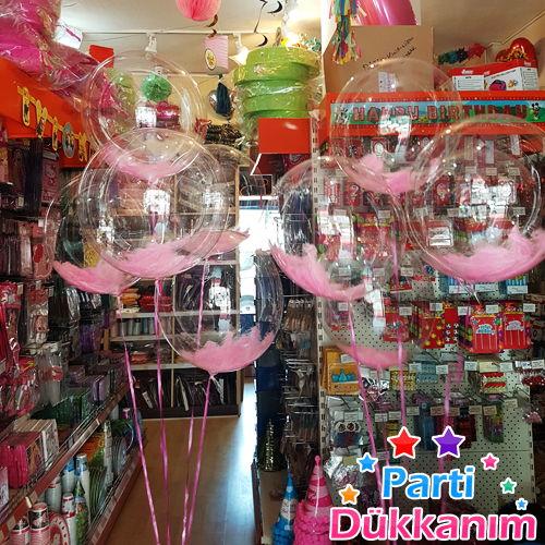 Şeffaf Tüylü Uçan Balon Demeti 10 Adet MAĞAZADAN, fiyatı