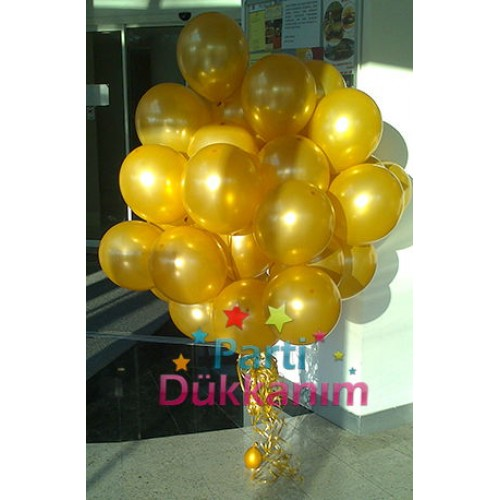 Dore Uçan Balon Demeti 30 Adet (Mağazadan)
