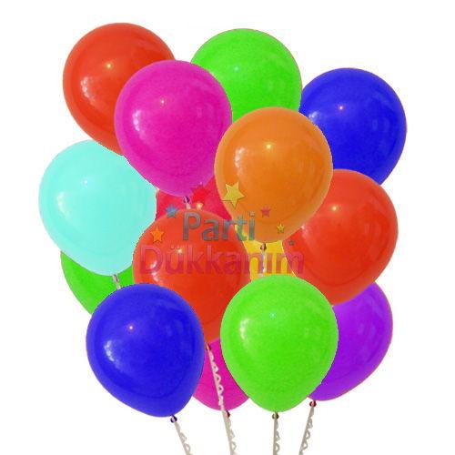 Uçan Balon Karışık Renkli MAĞAZADAN 15 Adet