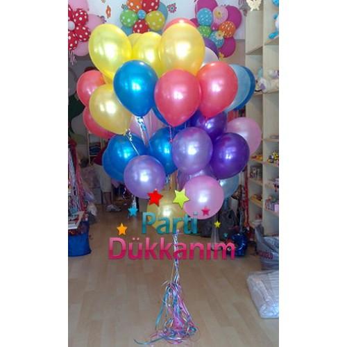 Sedefli Uçan Balon Demeti (40 Adet) MAĞAZADAN