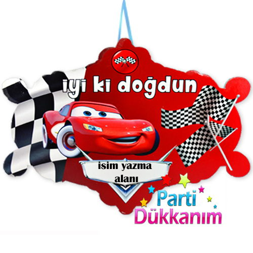 Cars Asma Süs Pankart, fiyatı