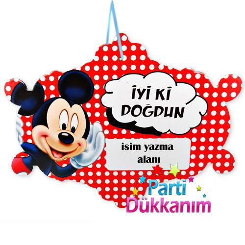 Mickey Mouse Asma Süs Pankart
