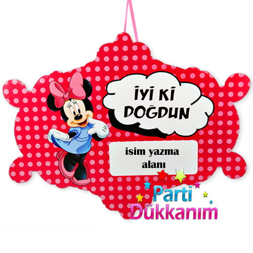 Minnie Mouse Asma Süs Pankart