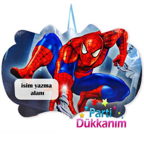 Spiderman Asma Süs Pankart