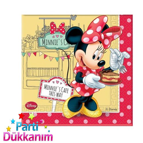 Minnie Mouse Cafe Peçete (20 adet)