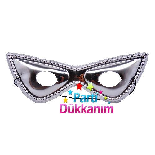 Plastik Maske Gümüş