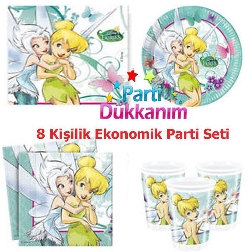 Tinkerbell Fairies Ekonomik Parti Seti 8 Kişilik