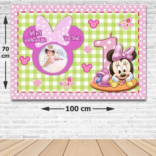 Baby Minnie Kişiye Özel Parti Afişi 70*100 cm