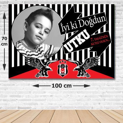Beşiktaş Doğum Günü Parti Afiş 70*100 cm, fiyatı