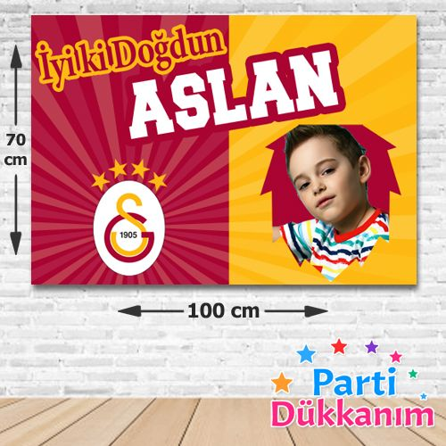 Galatasaray Doğum Günü Parti Afiş 70*100 cm