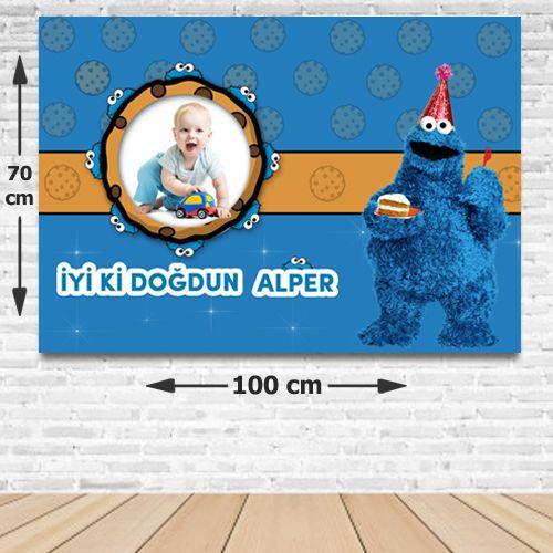 Kurabiye Canavarı Doğum Günü Parti Afişi 70*100 cm, fiyatı