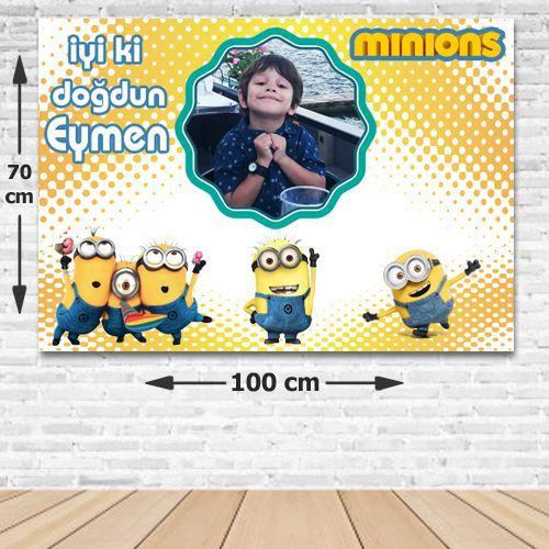 Minions Kişiye Özel Parti Afişi 70*100 cm, fiyatı