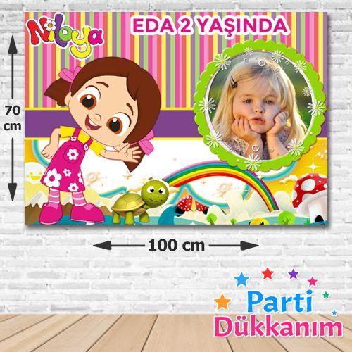 Niloya Doğum Günü Parti Afişi 70*100 cm, fiyatı