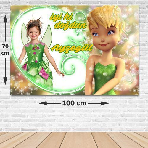 Tinkerbell Kişiye Özel Parti Afişi 70*100 cm, fiyatı