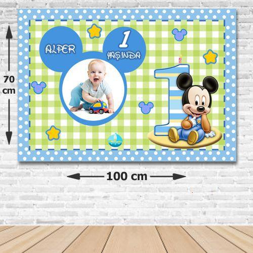 Baby Micey Kişiye Özel Doğum Günü Parti Afişi 70*100 cm