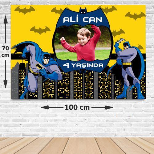 Batman Kişiye Özel Doğum Günü Parti Afişi 70*100 cm