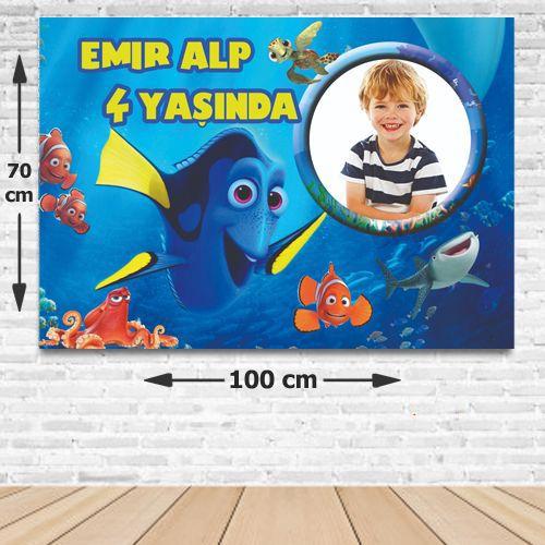 Dory Kişiye Özel Doğum Günü Parti Afişi 70*100 cm, fiyatı