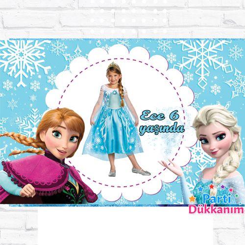 Frozen Doğum Günü Parti Afiş 70*100 cm