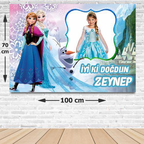 Frozen Kişiye Özel Parti Afişi 70*100 cm, fiyatı