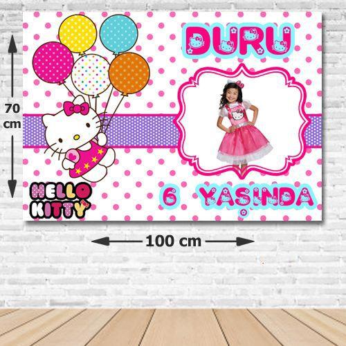 Hello Kitty Kişiye Özel Parti Afişi 70*100 cm, fiyatı