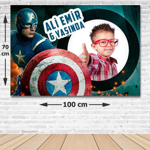 Kaptan Amerika Doğum Günü Parti Afişi 70*100 cm, fiyatı