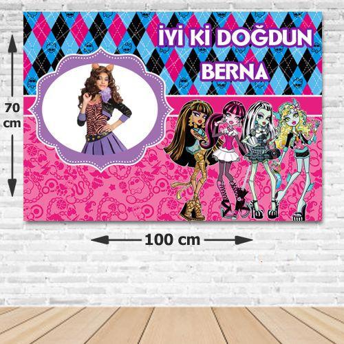 Monster High Doğum Günü Parti Afişi 70*100 cm, fiyatı