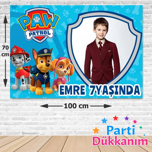 Paw Patrol Doğum Günü Parti Afişi 70*100 cm, fiyatı