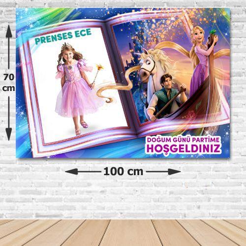 Rapunzel Kişiye Özel Parti Afişi 70*100 cm, fiyatı