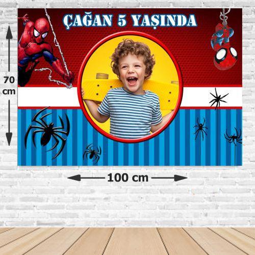 Spiderman Doğum Günü Parti Afiş 70*100 cm
