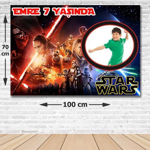 Star Wars Kişiye Özel Doğum Günü Parti Afişi 70*100 cm, fiyatı