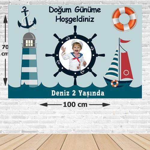 Denizci Kişiye Özel Doğum Günü Afişi 70*100 cm, fiyatı