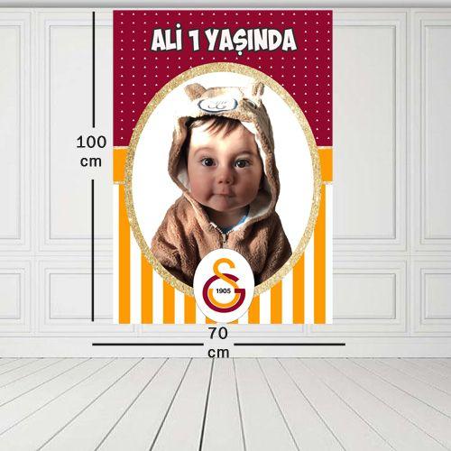 Galatasaray Kişiye Özel Doğum Günü Parti Afişi 70*100 cm, fiyatı