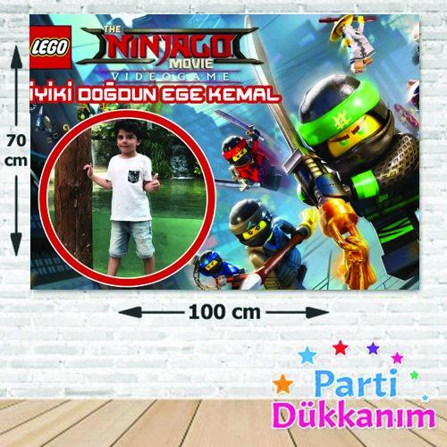 Lego Ninjago Doğum Günü Parti Afişi 70*100 cm, fiyatı