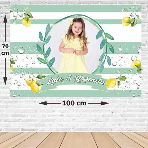 Limon Temalı Doğum Günü Afişi 70*100 cm, fiyatı