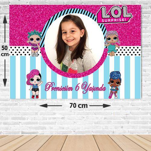 Lol Bebek Doğum Günü Parti Afişi 50*70 cm, fiyatı