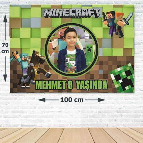 Minecraft Doğum Günü Parti Afişi 70*100 cm, fiyatı