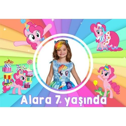 Pony Kişiye Özel Doğum Günü Parti Afişi 70*100 cm, fiyatı