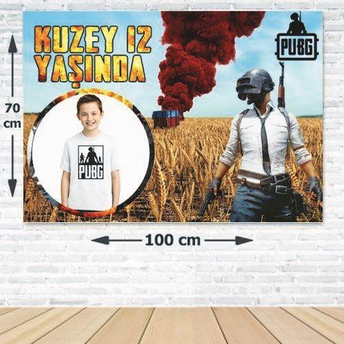 PUBG Kişiye Özel Doğum Günü Parti Afişi 70*100 cm, fiyatı