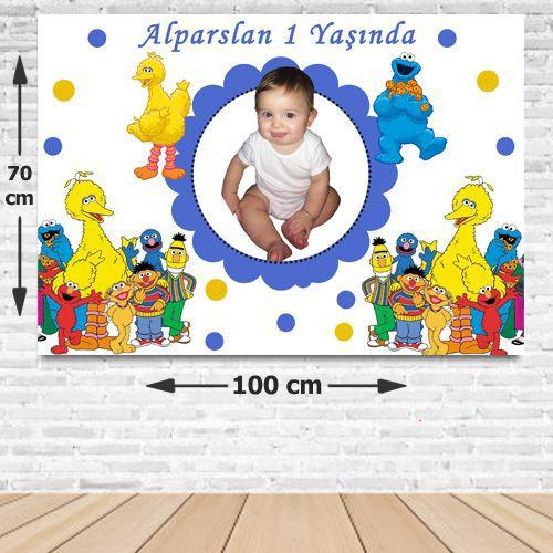 Susam Sokağı Doğum Günü Parti Afişi 70*100 cm, fiyatı
