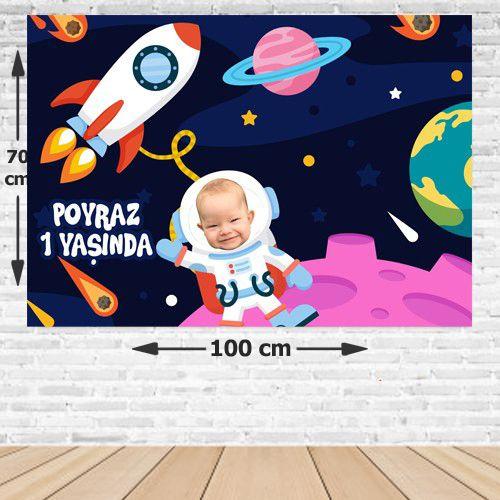 Uzay Doğum Günü Afişi 70*100 cm, fiyatı