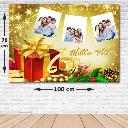 Yılbaşı Aile Fotoğrafı Kişiye Özel Afiş 70*100 cm, fiyatı