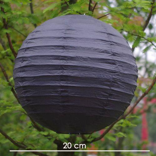 Siyah Yuvarlak Fener Süs (20 cm)