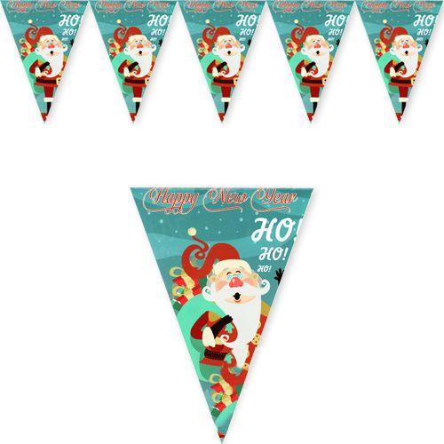 Yılbaşı Noel Baba Flama Bayrak Süs (180 cm)