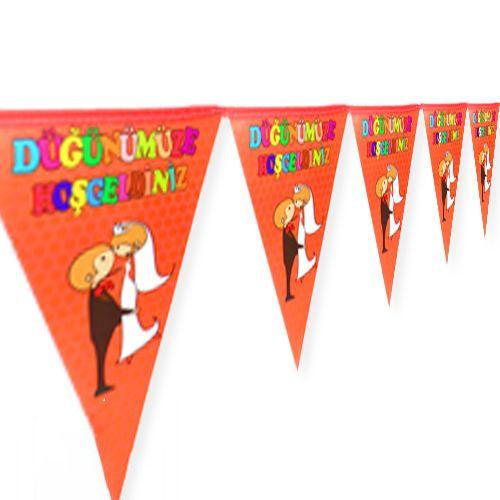 Düğünümüze Hoşgeldiniz Flama Bayrak (2 metre), fiyatı