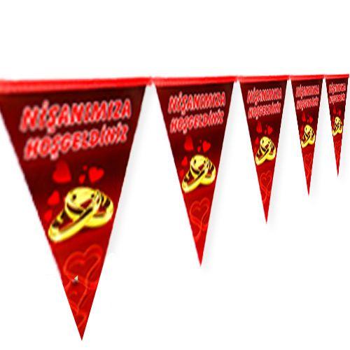 Nişanımıza Hoşgeldiniz Bayrak Süs (2 m.), fiyatı