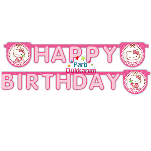 Hello Kitty Happy Birthday Yazısı (2 m.)