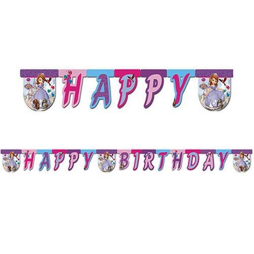 Prenses Sofia Happy Birthday Yazısı (2 m.)