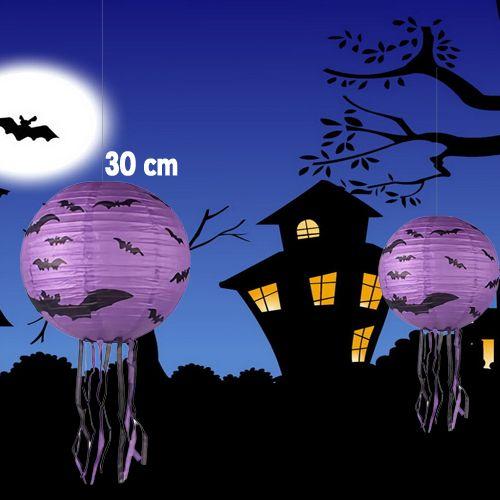 Cadılar Bayramı Yarasa Yuvarlak Fener Süs (30 cm), fiyatı